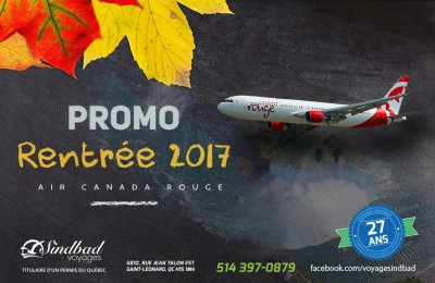 Promo Rentrée 2017 - Air Canada Rouge for Casa