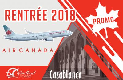 Promo Rentrée - Air Canada Direct pour Casa