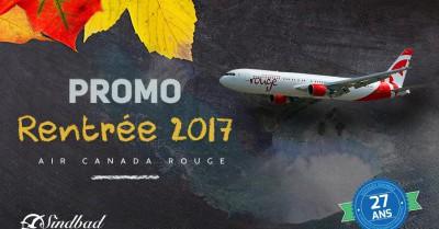 Promo Rentrée 2017 - Air Canada Rouge pour Casa