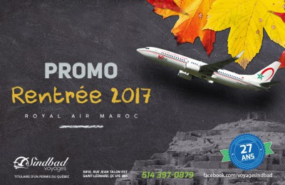 Promo Rentrée 2017 - Royal Air Maroc pour Casa