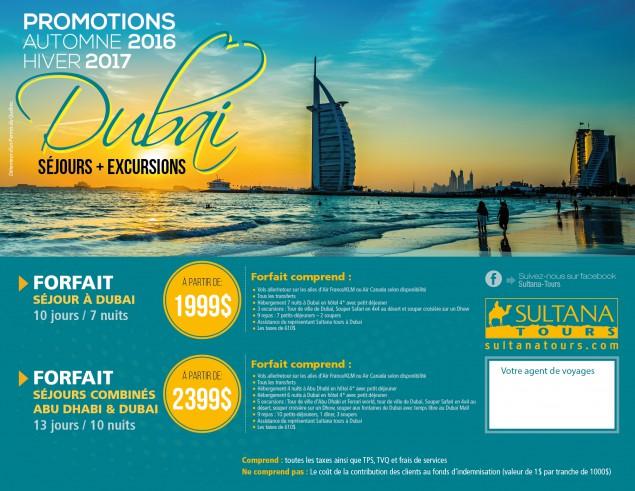 Dubaï séjours + excursions - Promotions Automne 2016 hiver 2017