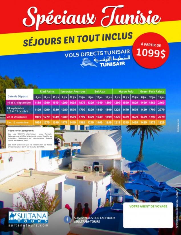 Spéciaux Tunisie - séjours en tout inclus